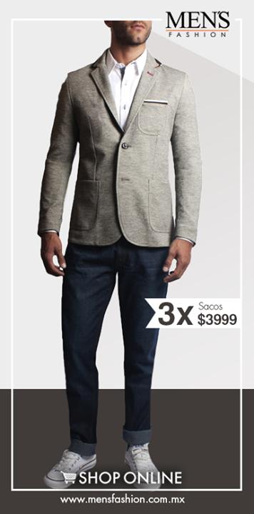 ¿Buscas un look universitario? Opta por un saco, jeans y camisas claras; la corbata es un plus. Cómpra aquí: www.mensfashiion.com.mx