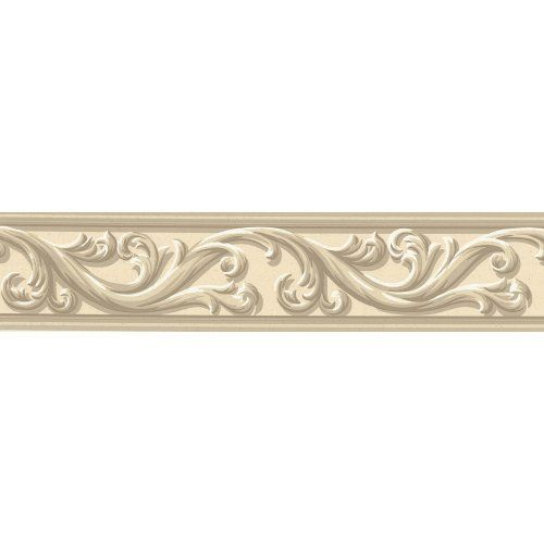 Waverly 578840 Architectural Scroll Wall Border, Beige, 4 ...