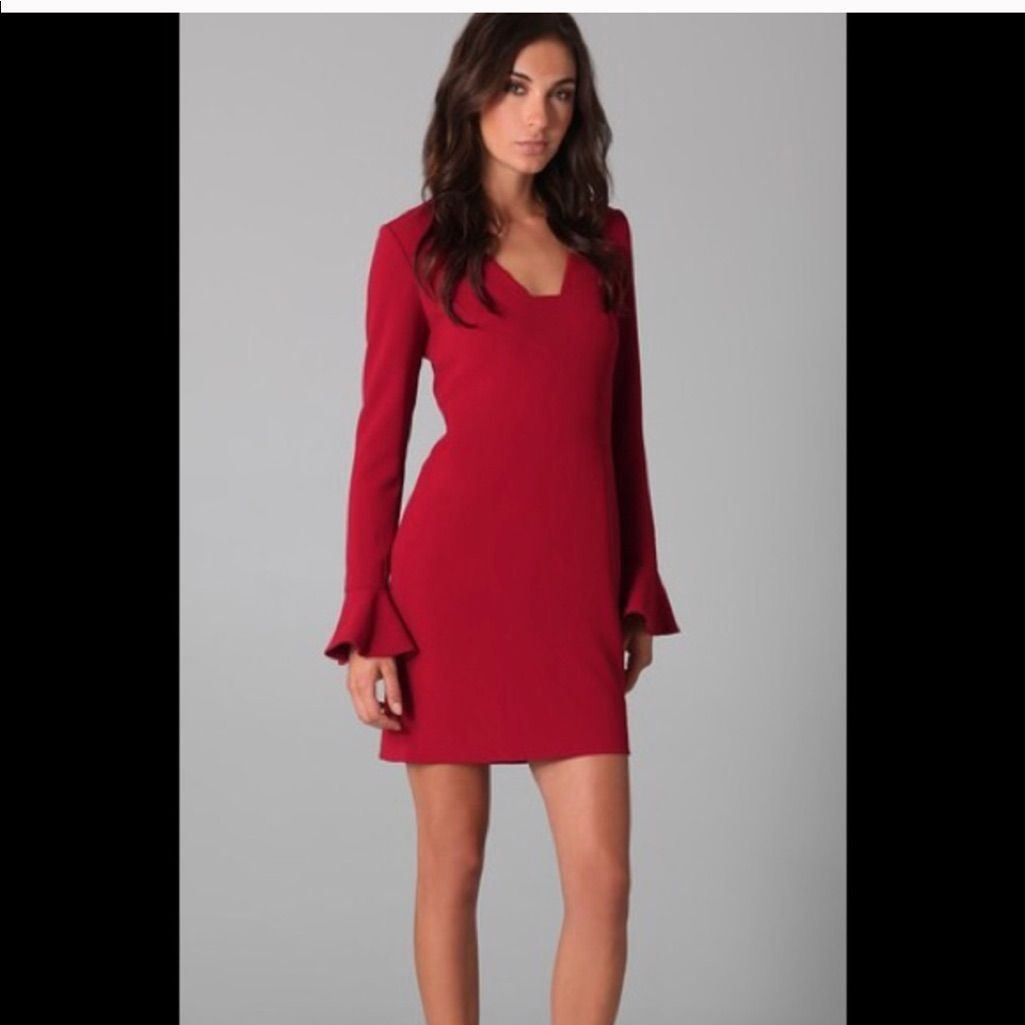 Dvf spice red bell sleeve dress size nwt products