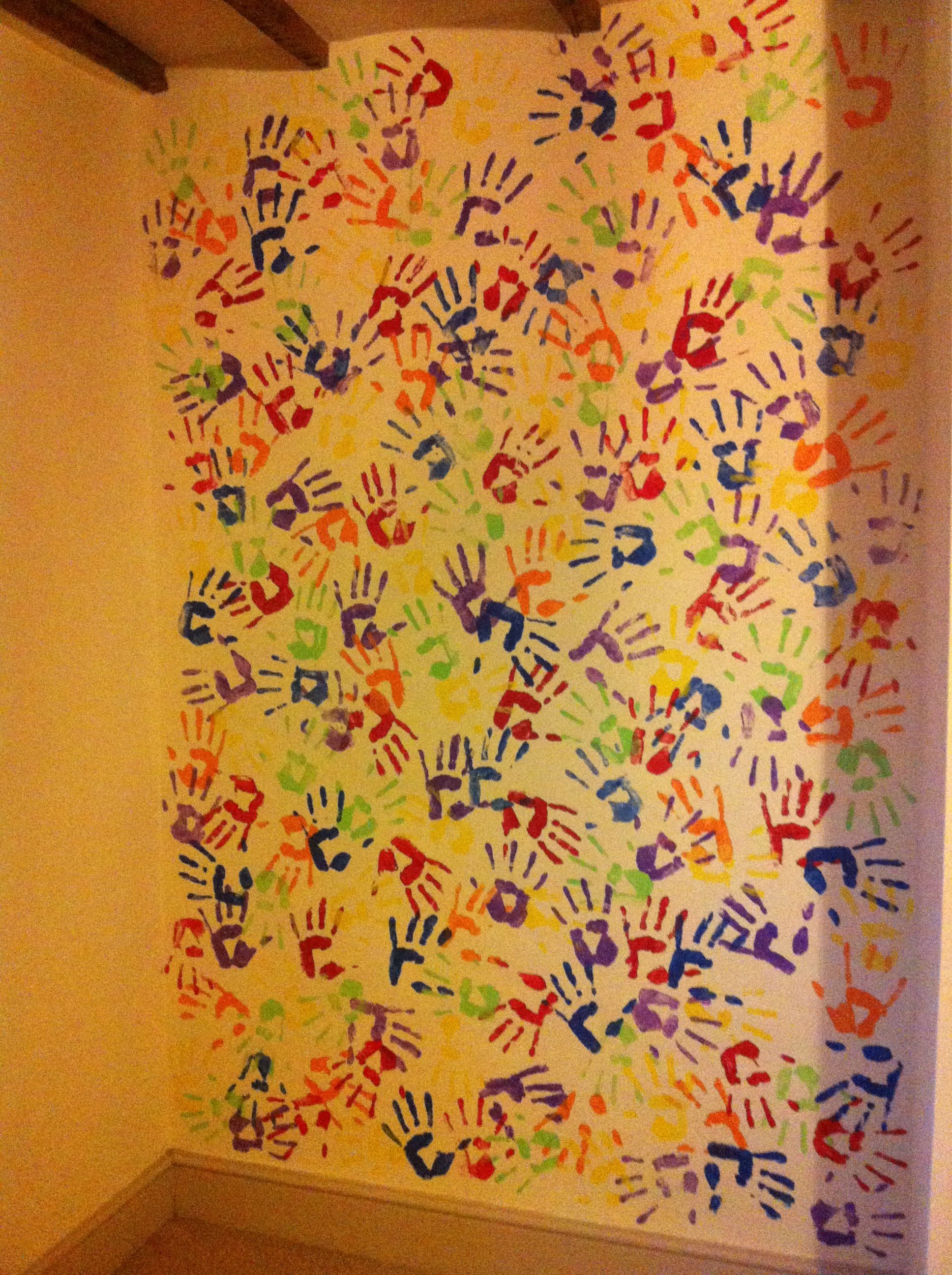 Handprint Wall Decor Playroom Wall Decor Diy Wall
