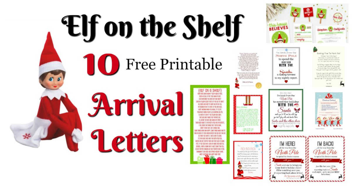 Elf on the Shelf Ideas for Arrival: 10 Free Printables! | Letters from Santa Blog