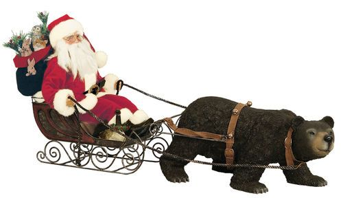 """Details about Ditz Designs 16""""Father Christmas Sleigh Bells Santa NEW 