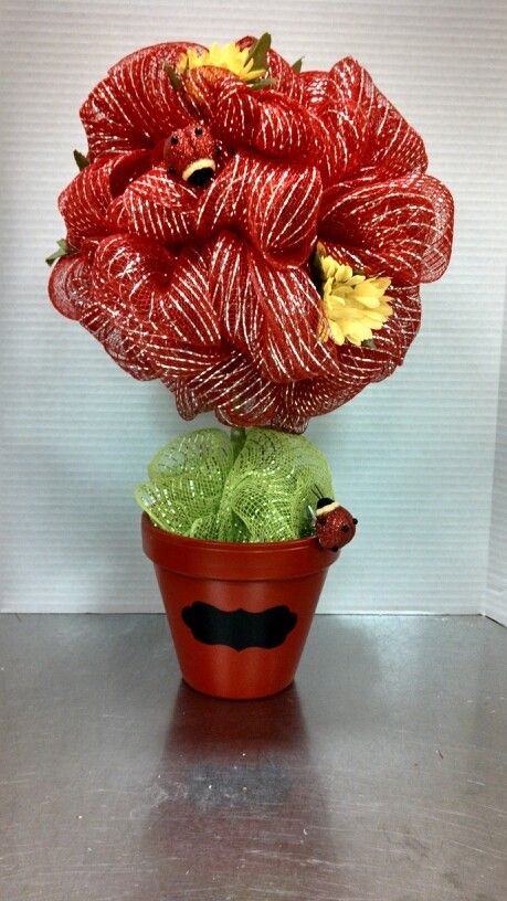 Lady bug deco mesh centerpiece michaels craft ny