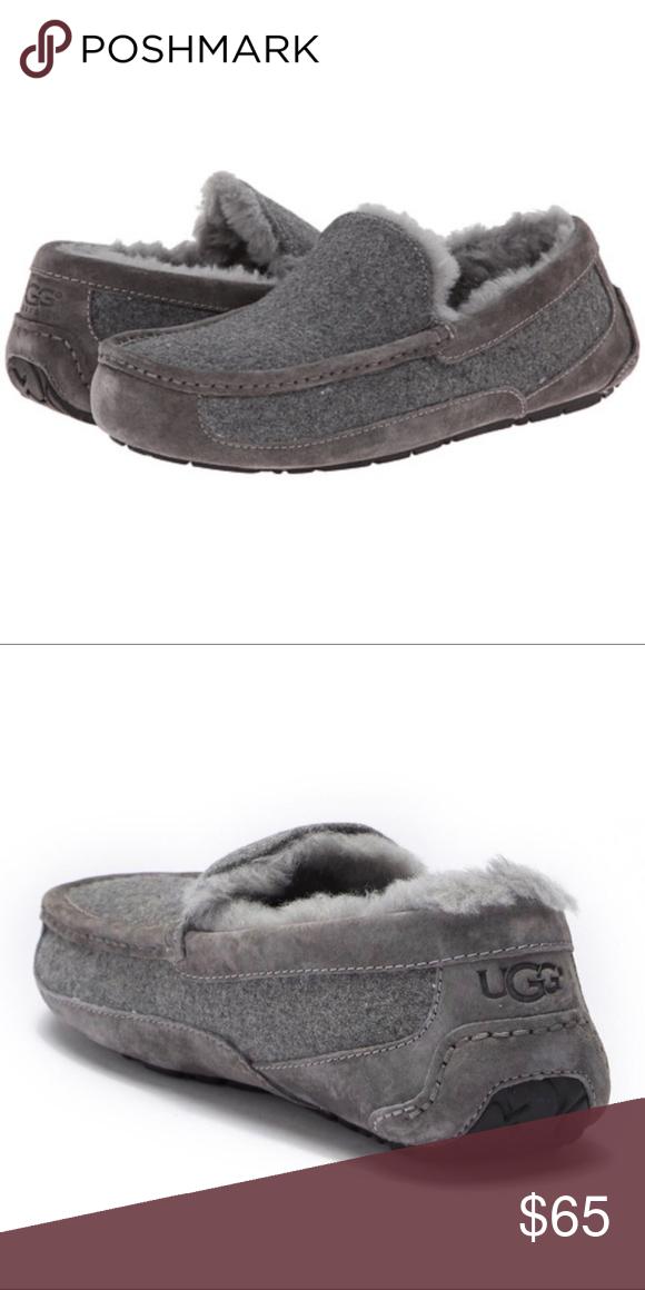 a661e8996a5 UGG Ascot Grey SlipperWool Felt Seude Shearling 10 UGG Australia  Ascot   Wool Slippers