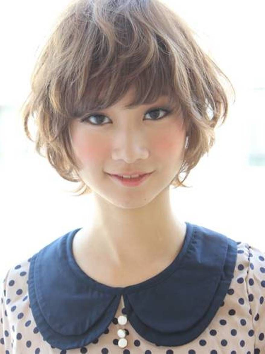 The Short Curly Hairstyle Japanese Short Curly Hair Short