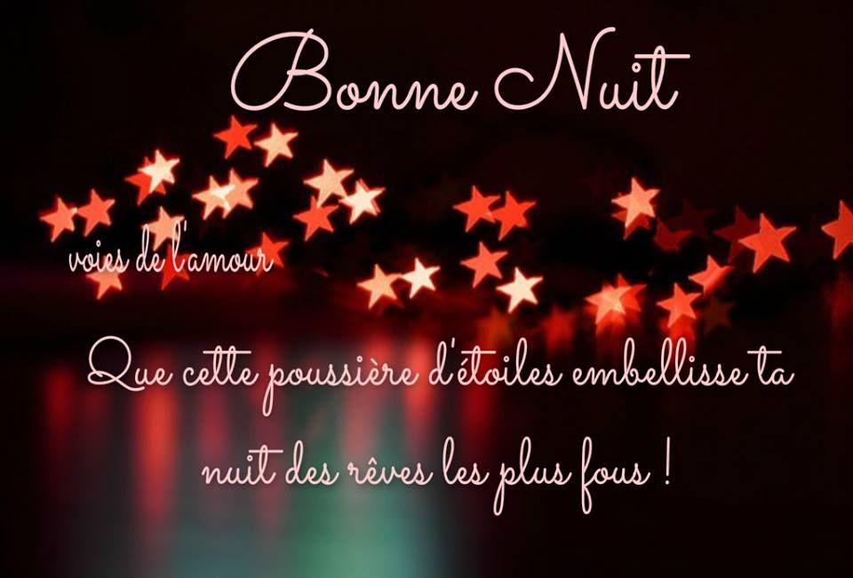 Bonne Nuit Que Cette Poussière Detoiles Embellisse Ta Nuit