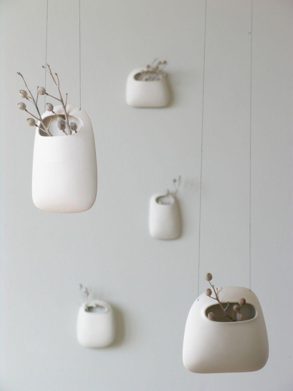 Fantastic Small Hanging Vertical Pod Wall Vase | Walls, Pottery and Modern  VQ01