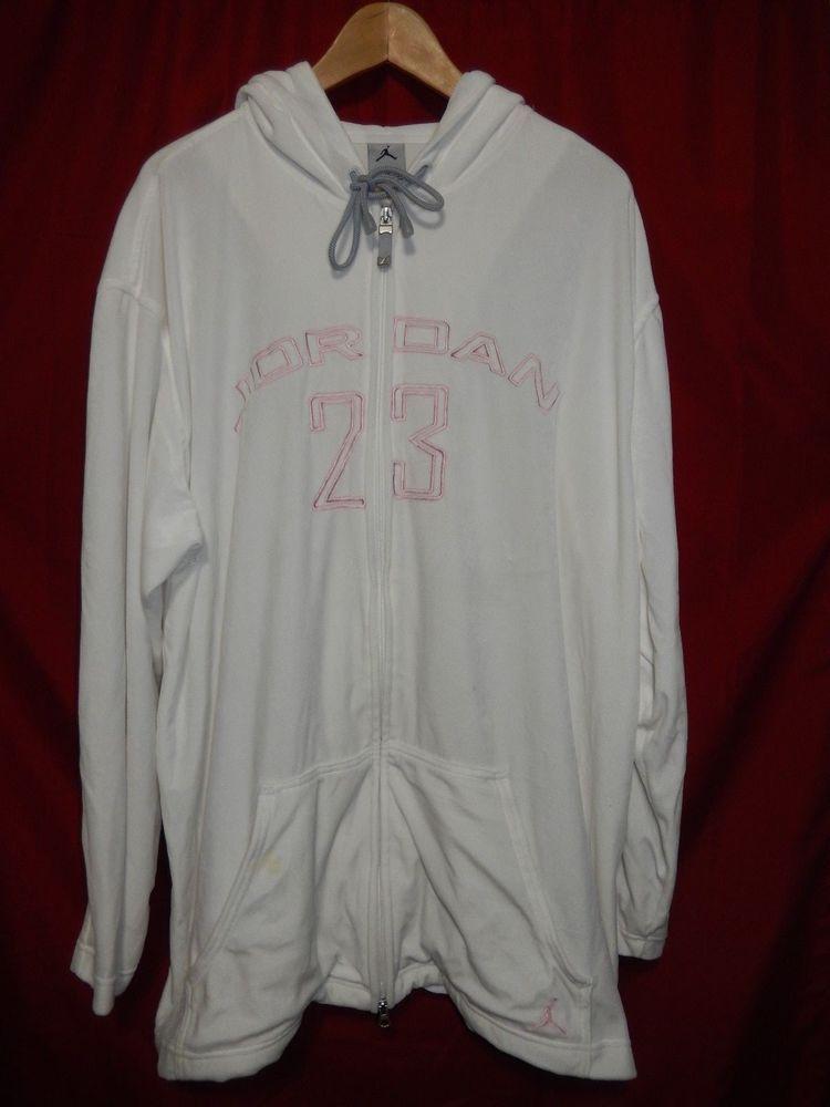 VTG OG Nike Air Jordan 23 Full Zip Velour Style Jacket White