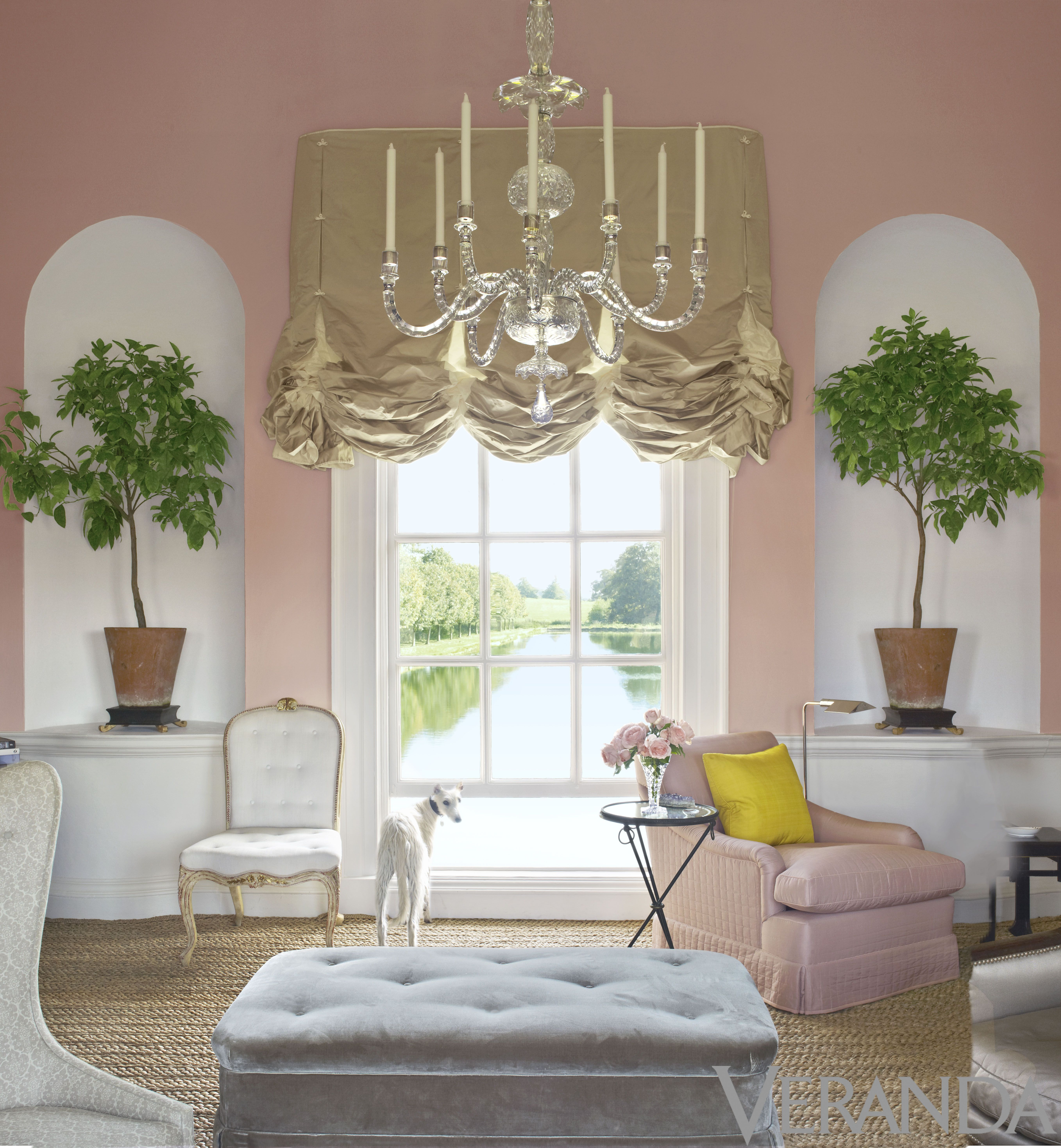 Room of the Day: the symmetry of the greenery in the ... Designs Sketch Home Ofveranda on