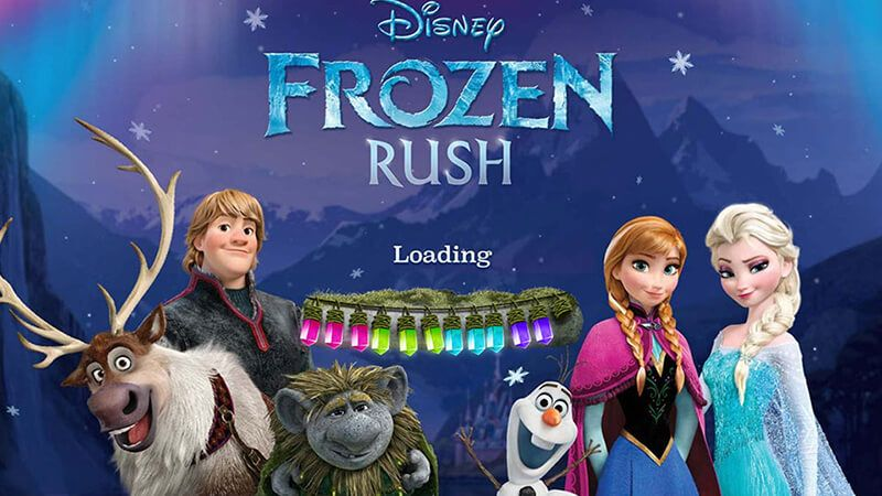 Frozen Rush Disney Princess Elsa Horse Games Animated Movies