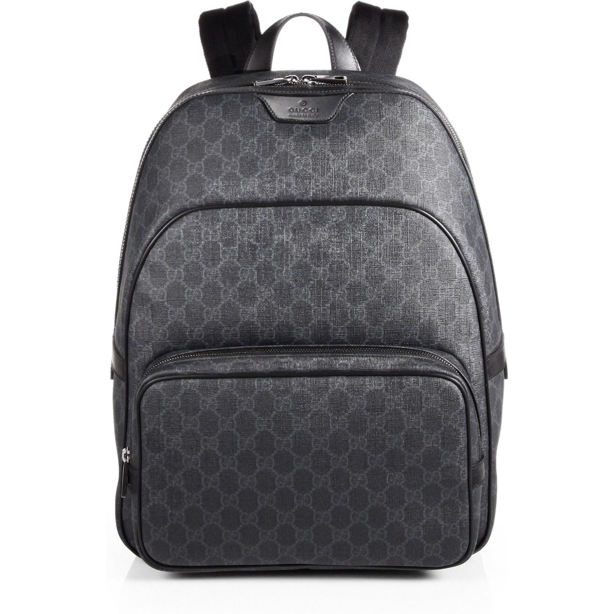 Gucci Gg Supreme Backpack as seen on Zayn Malik  8db79435bc03f
