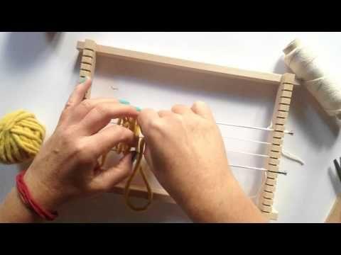 Diy Fabriquer Son Metier A Tisser Youtube Diy Weaving Rag Rug Loom Weaving