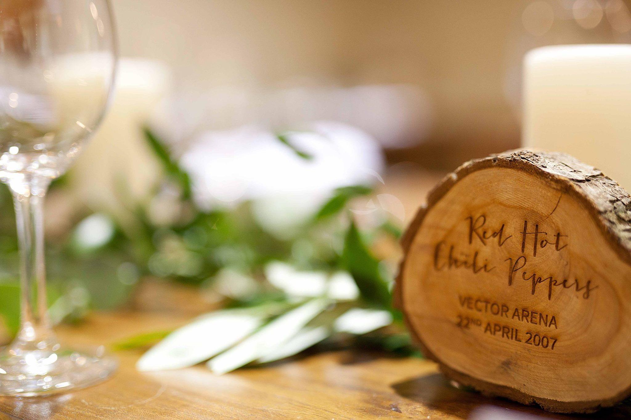 Wedding table names - woodrounds