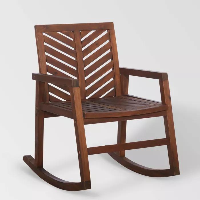 Chevron Outdoor Rocking Chair Saracina Home Target