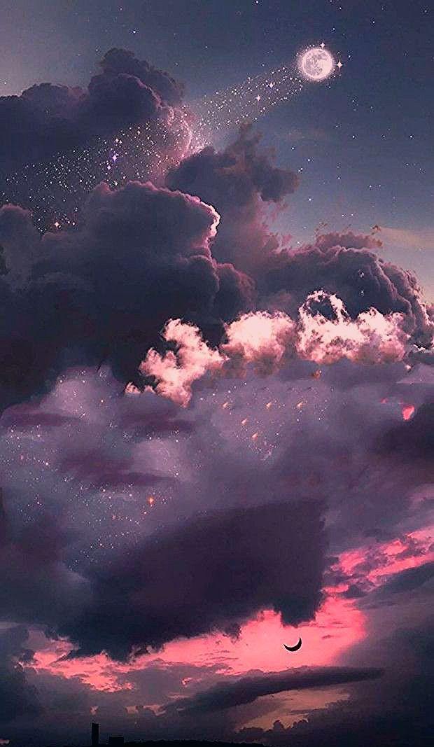 Klicken Sie hier, um mehr bling bling Galaxie Mond und Stern Tapete zu sehen. # Galaxie Tapete #galaxyart # Mondästhetik # Vollmond #Staraästhetik