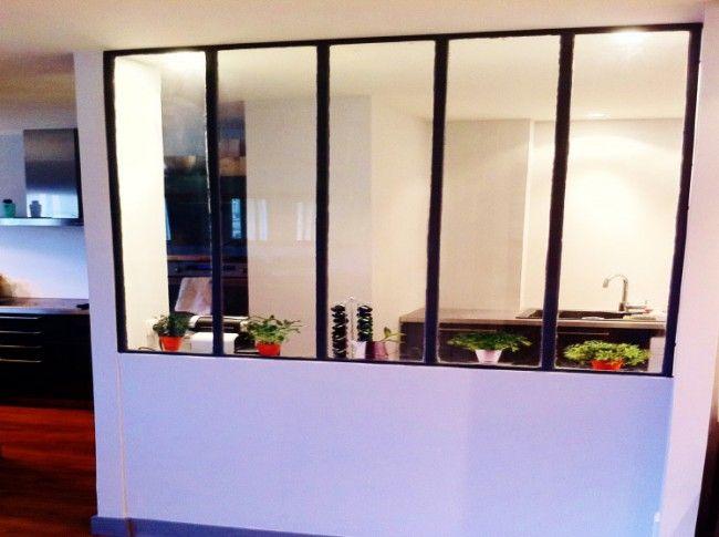 Cloison type atelier s paration pour cuisine l 39 art du - Verriere cuisine prix ...
