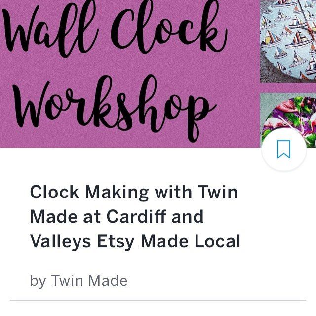 Why not have a go at clock making  at our #EtsyMadeLocal event with @twin_made? You can find out more on #Eventbrite or on the team website. http://ift.tt/2fz086A