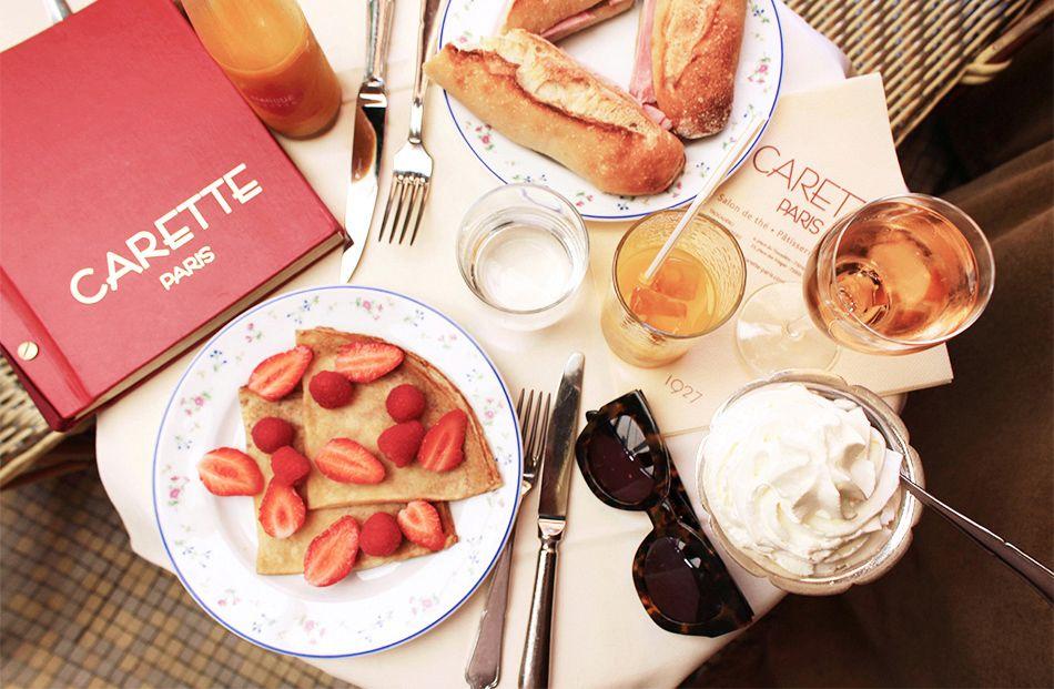 Beautiful Carette café in Paris right near the Eiffel Tower.