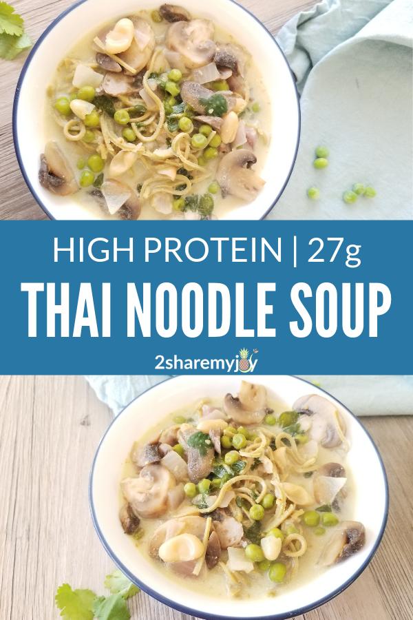 Easy Vegan Thai Soup High Protein Gluten Free Oil Free