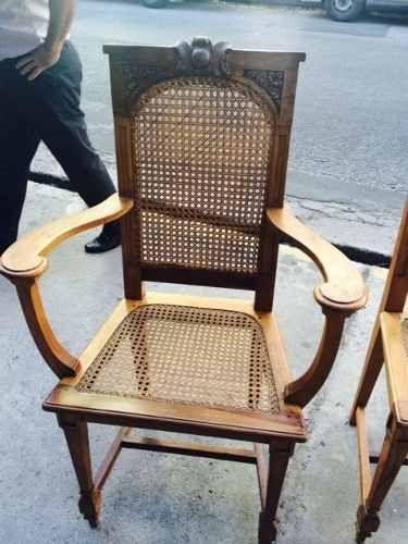 Antiguo juego de comedor ano 60 mesa y 6 sillas impecables ...