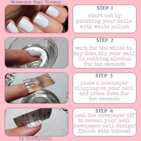 Newspaper nails tutorial by craftynail nail polish related newspaper nails tutorial by craftynail prinsesfo Images