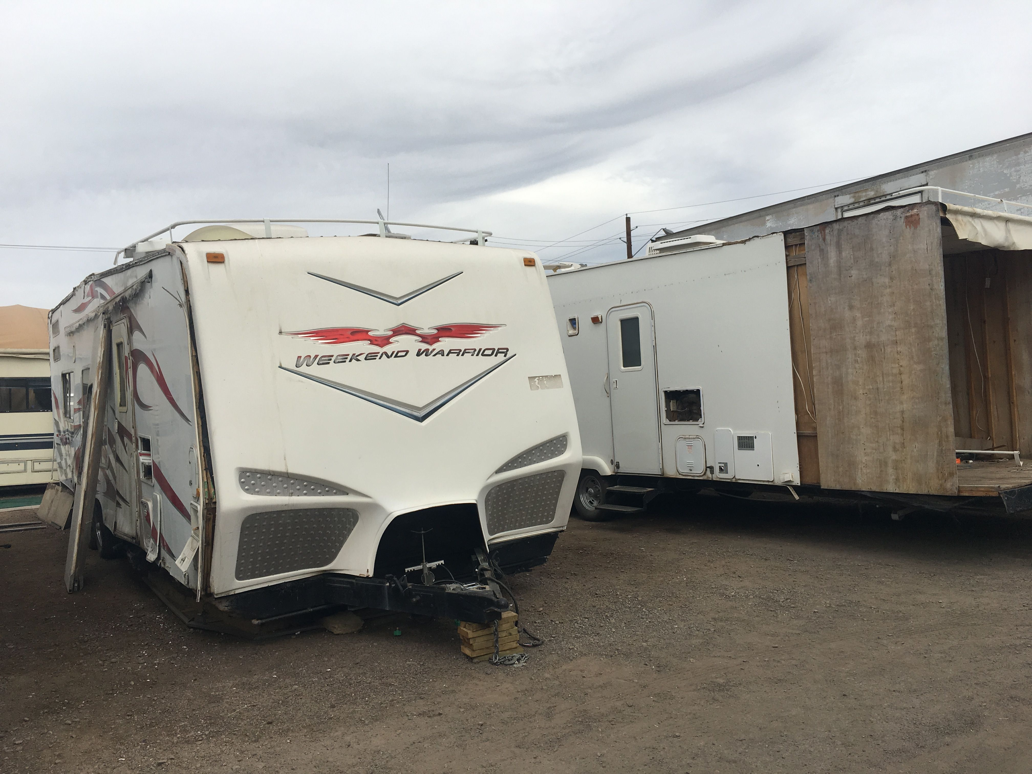 Parting out a weekend warrior at arizona rv salvage