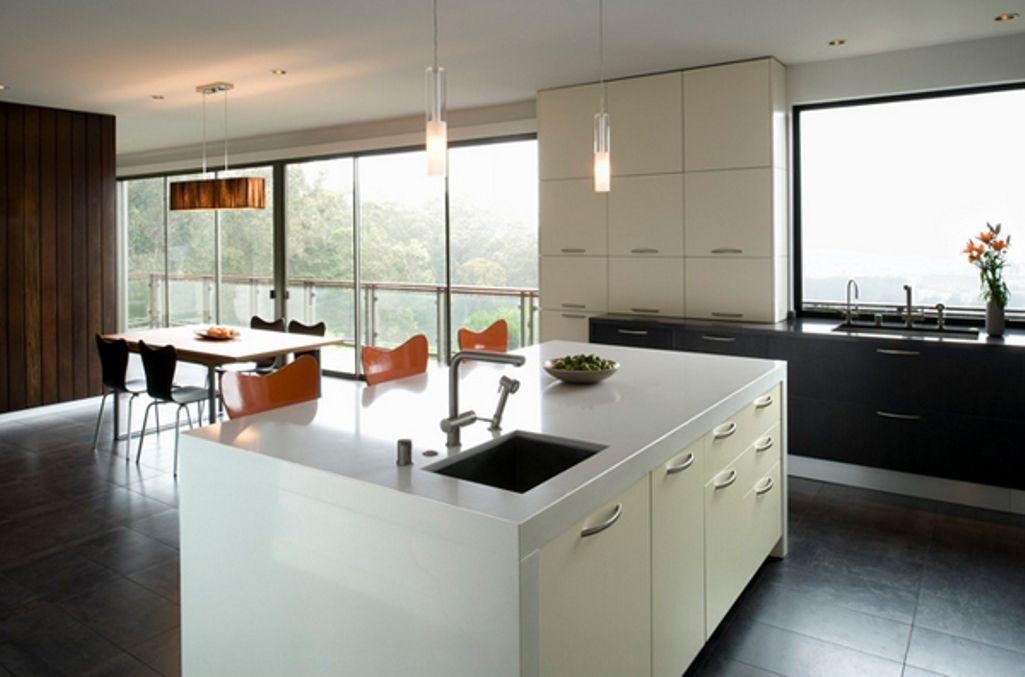 Modern Kitchen Island With Sink sleek white kitchen island with small sink | modern kids room