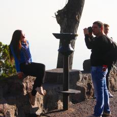 Foreign people #Turists #Chile #Photo #CerroSanCristobal