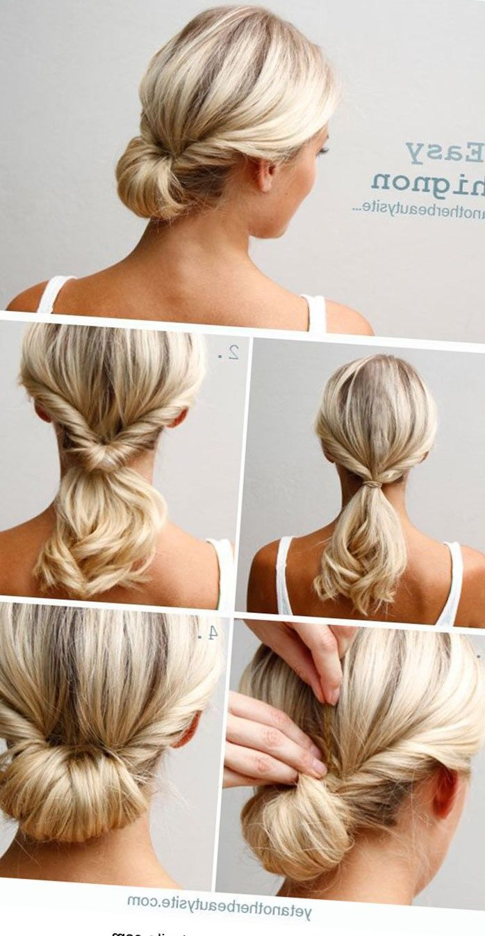 Tuto Coiffure Cheveux Mi Long Chignon Bas Soiree Mariage Facile A Faire Soi M Hair Styles Chignon Hair Updo Hairstyles Tutorials
