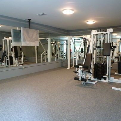 Gym wall to wall carpet Design Ideas, Pictures, Remodel and Decor