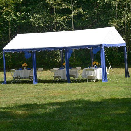 Party Tent 10 X 20 3m X 6m Blue White Outdoor Canopy Tent Outdoor Dance Floors