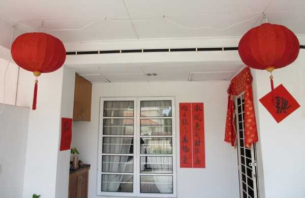 Chinese New Year Decorations, Flower Arrangements And Paper Crafts
