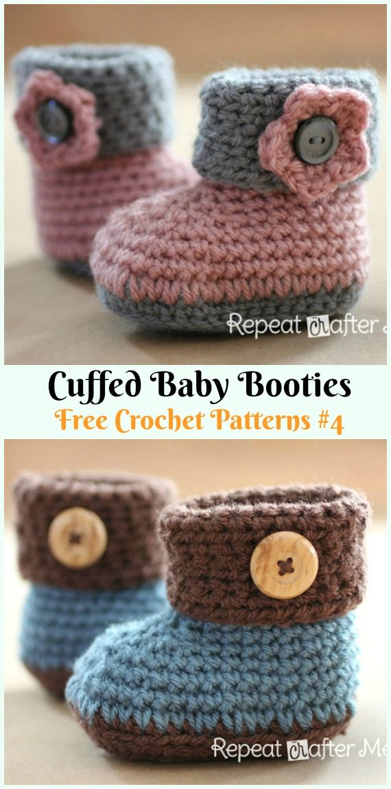 Photo of Crochet Ankle High Baby Booties Free Patterns Tutorials