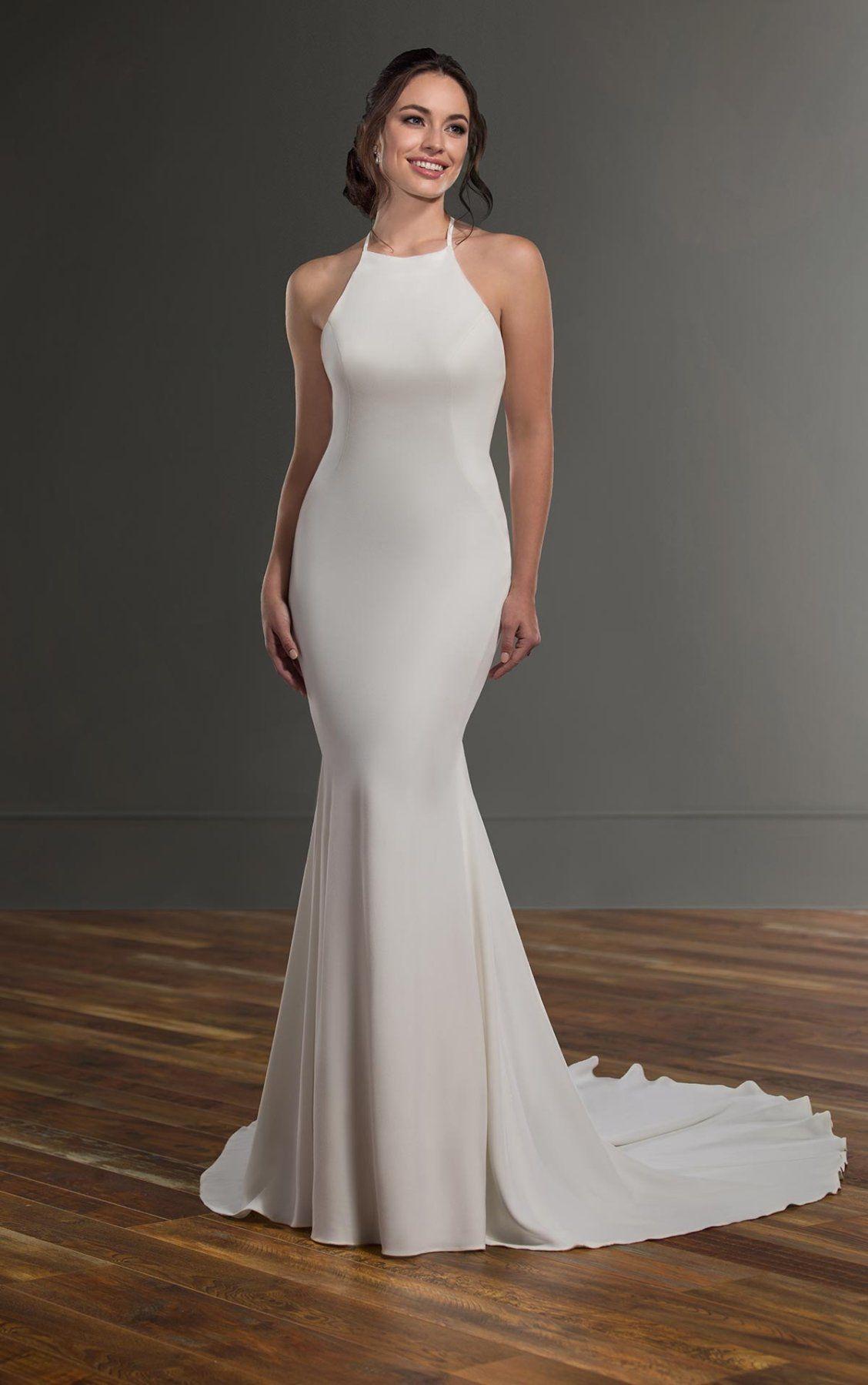 Simple Crepe Wedding Dress With Cross Back Martina Liana Wedding Dresses Discontinued Martina Liana Wedding Dress Wedding Dresses Crepe Wedding Dress [ 1799 x 1128 Pixel ]