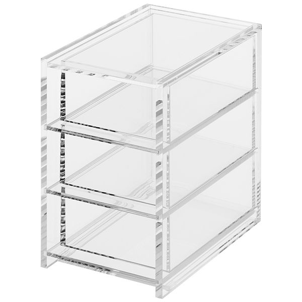 Acrylic 3 Drawer Unit For Make Up