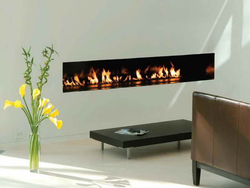Contemporary Built Gas Wall Fireplaces Modern