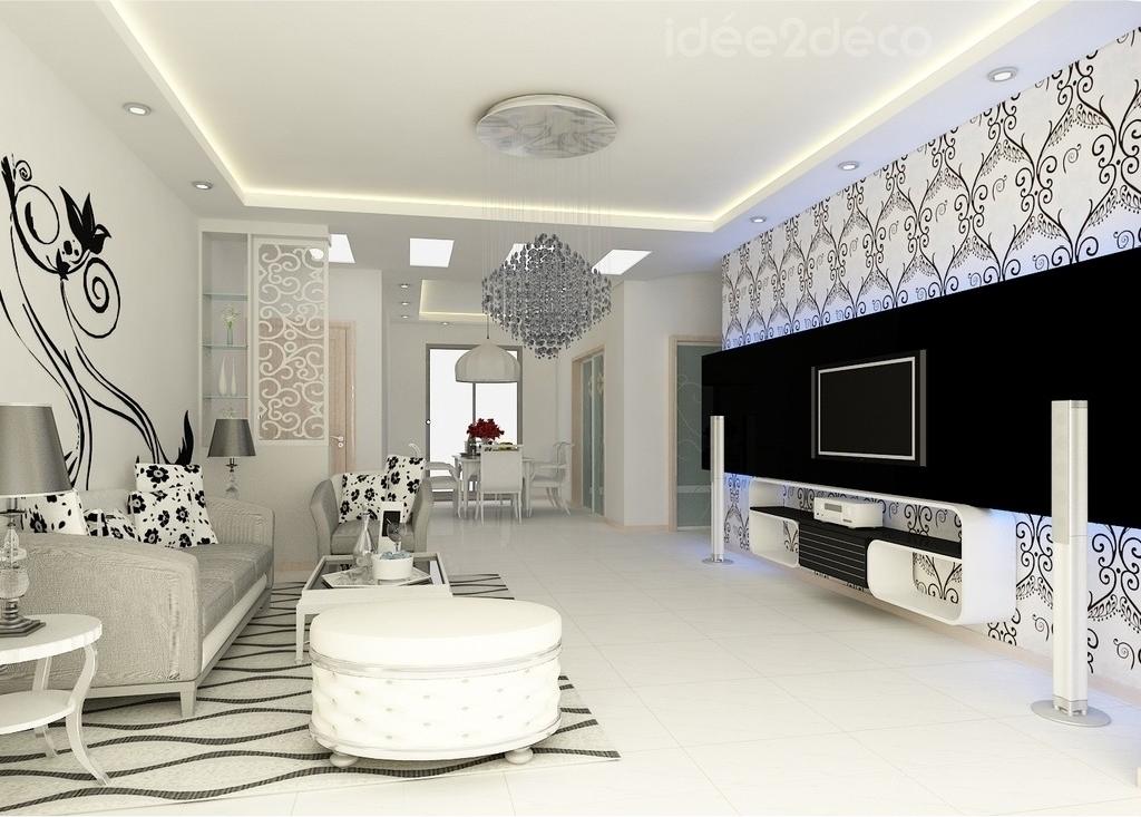 Une déco de salon néo-baroque en noir & blanc | Baroque ...