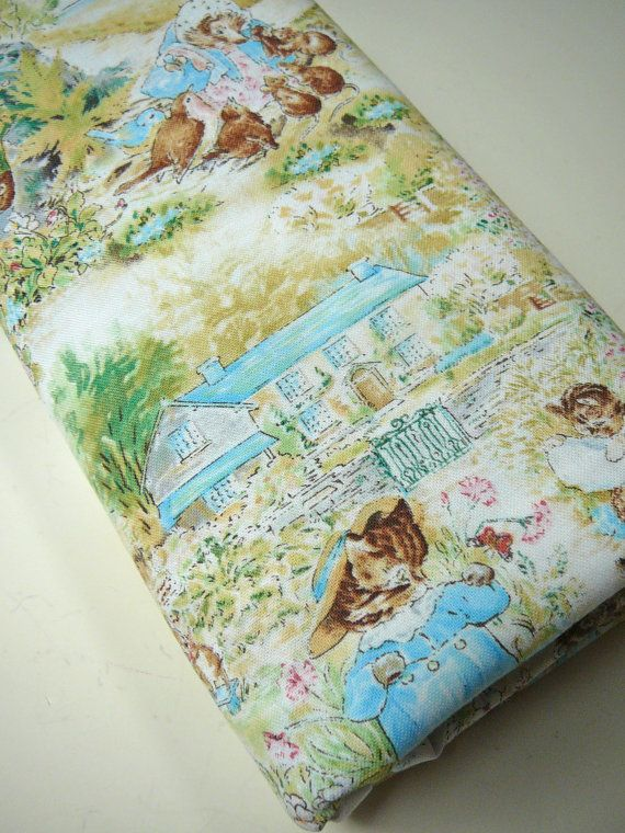 Beatrix Potter Fabric 1.5 Yard 1 1/2 Yard Peter Rabbit Nursery ...