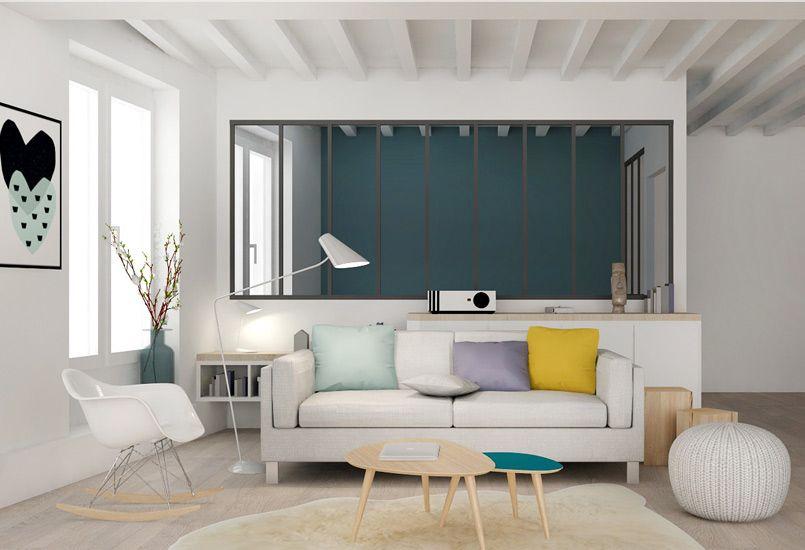 un salon sur mesure meuble salon appartement agence marion lano lyon am nagement. Black Bedroom Furniture Sets. Home Design Ideas