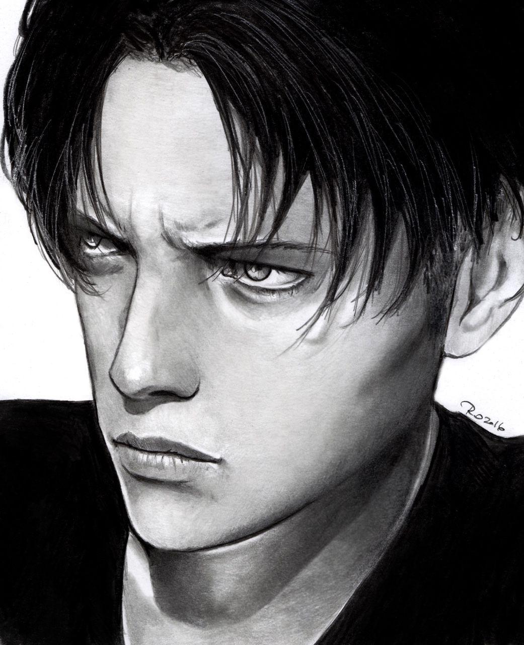 "roredwarrior3: "" Levi real portrait """