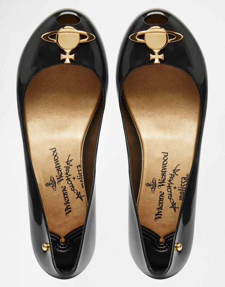 c4057901c94a Image 3 of Vivienne Westwood For Melissa Ultragirl 14 Black Orb Flat Shoes