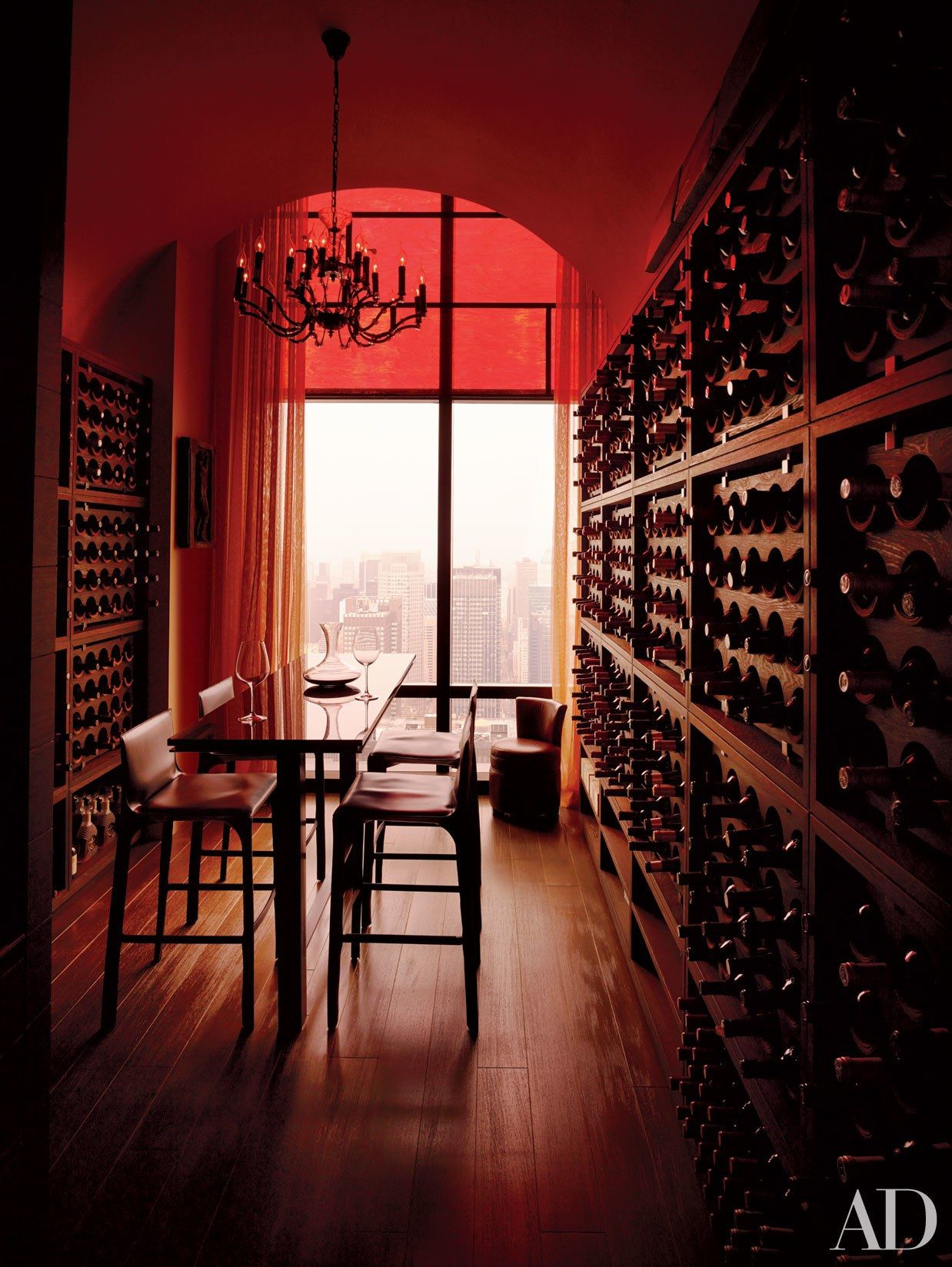 5 Storage Areas That Showcase Wine Wine Room New York Penthouse Architectural Digest