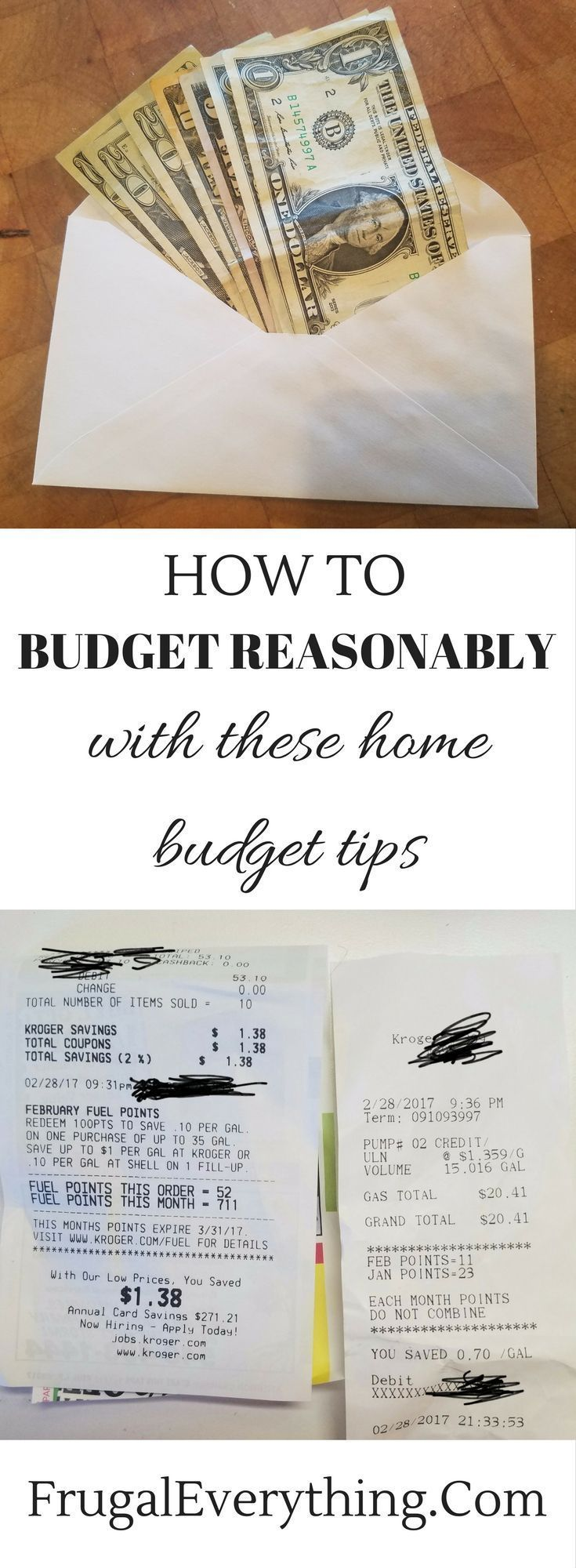 Not sure where to start when making your budget?  Use these home budget tips to make a learn how to budget reasonably.