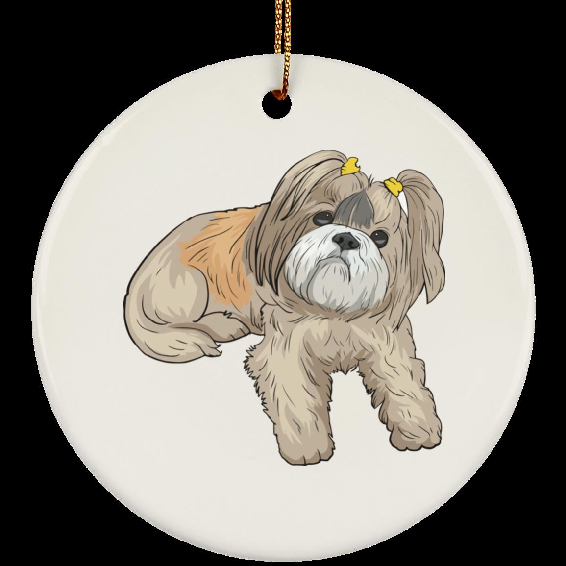 Shih Tzu Dog Ornament Christmas Tree Ornaments Holiday ...