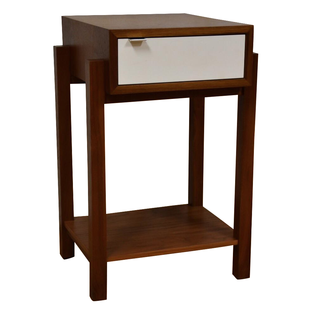 Charming A Solid Walnut Mid Century Modern Style Bedside Table Made By Atlantico  Furniture. Includes A