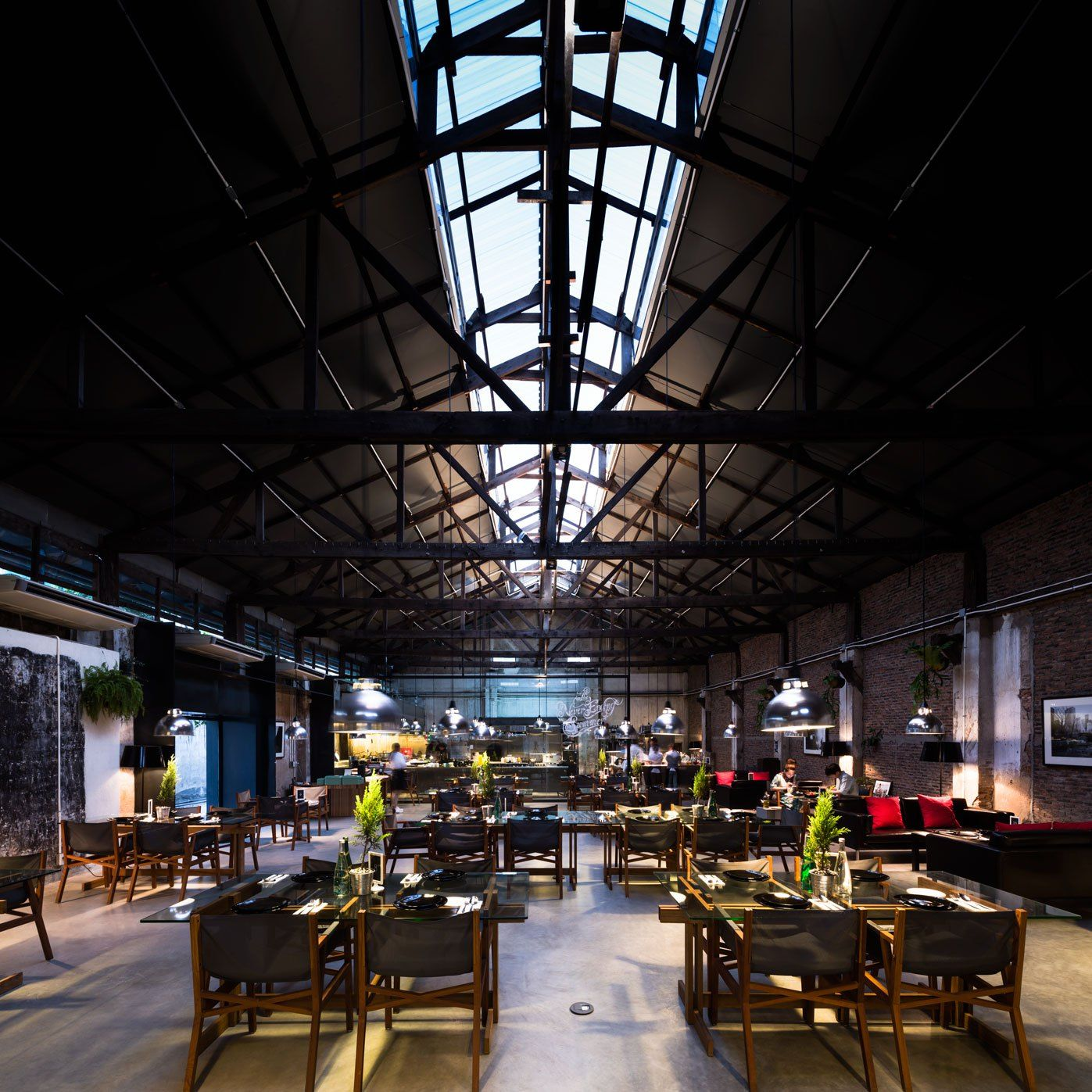 The Jam Factory. The Never Ending Summer & DBALP | Outdoor restaurant. Industrial architecture