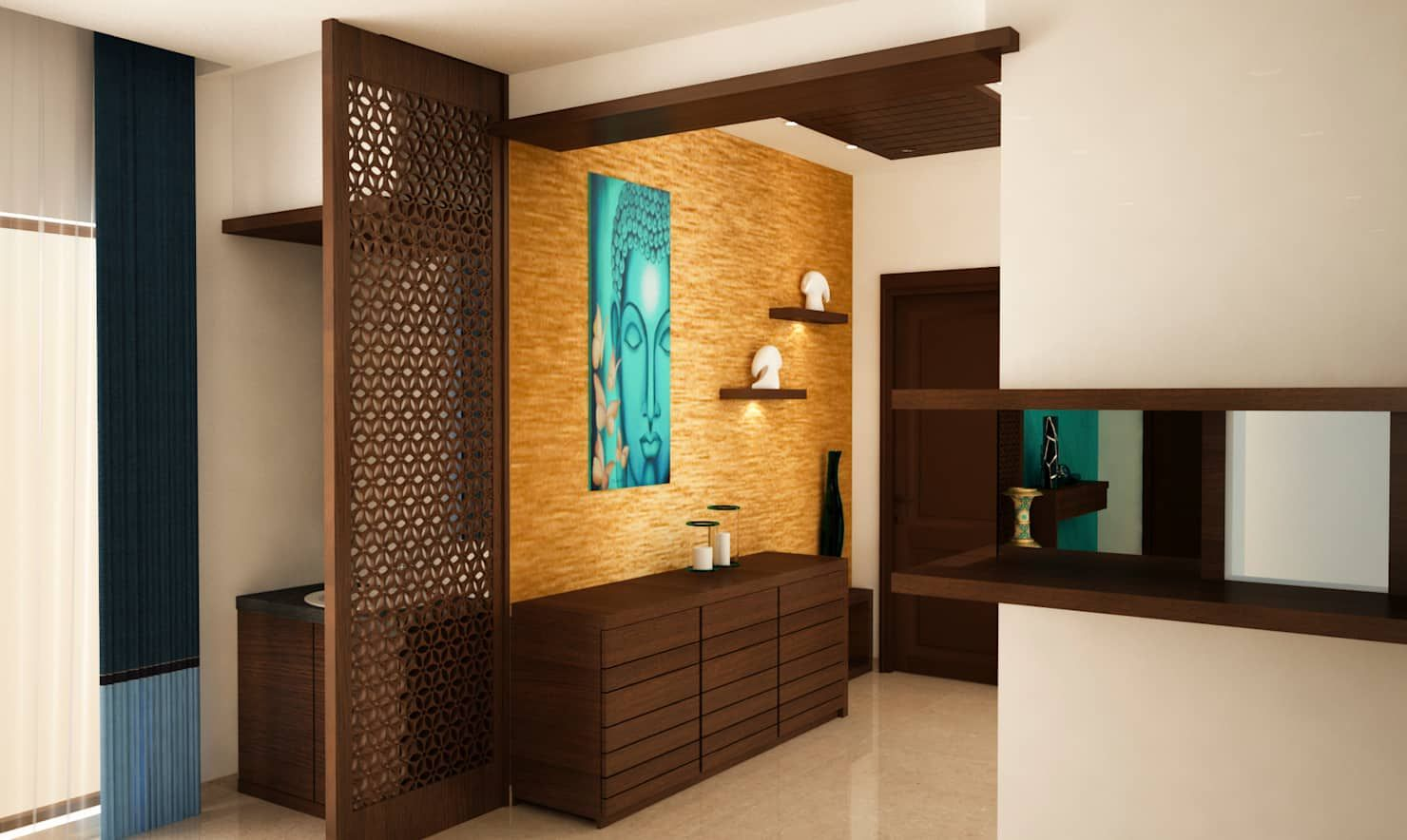 Hand wash area and crockery unit modern dining room by ...