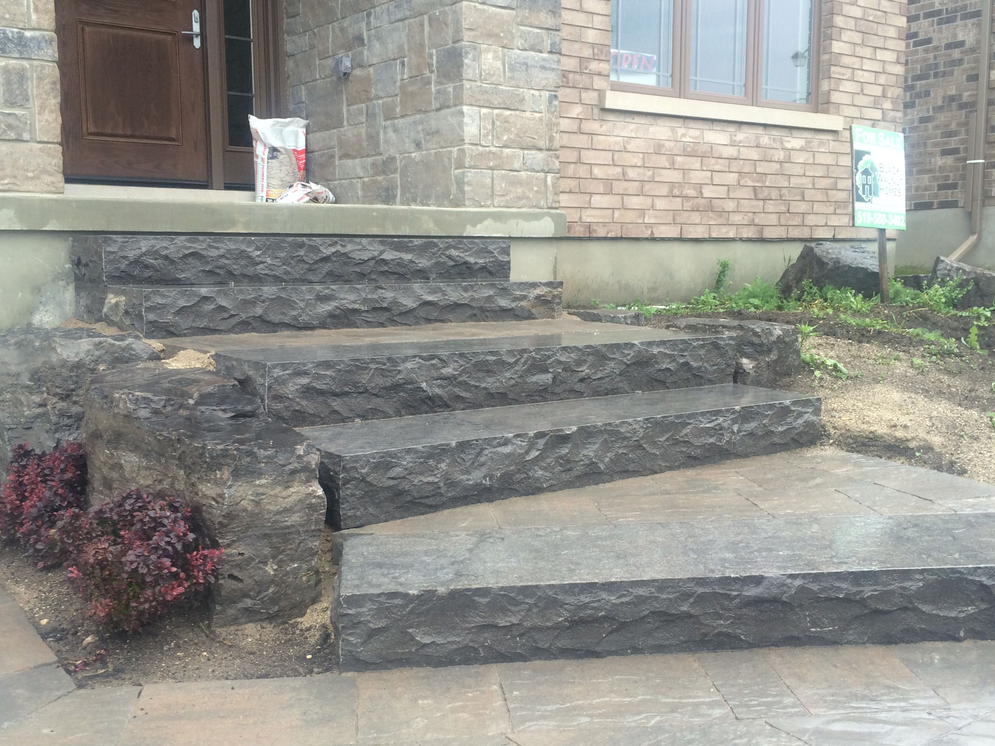 Stone Landscape Projects : Finished prestige landscape project hampton limestone