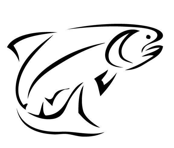 Best Bass Fish Outline #18245 | Fish drawings, Trout art ...