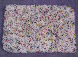 Plastic Bag Hooked Rug Plastic Bag Crochet Recycled Plastic Bags Plastic Bag Crafts